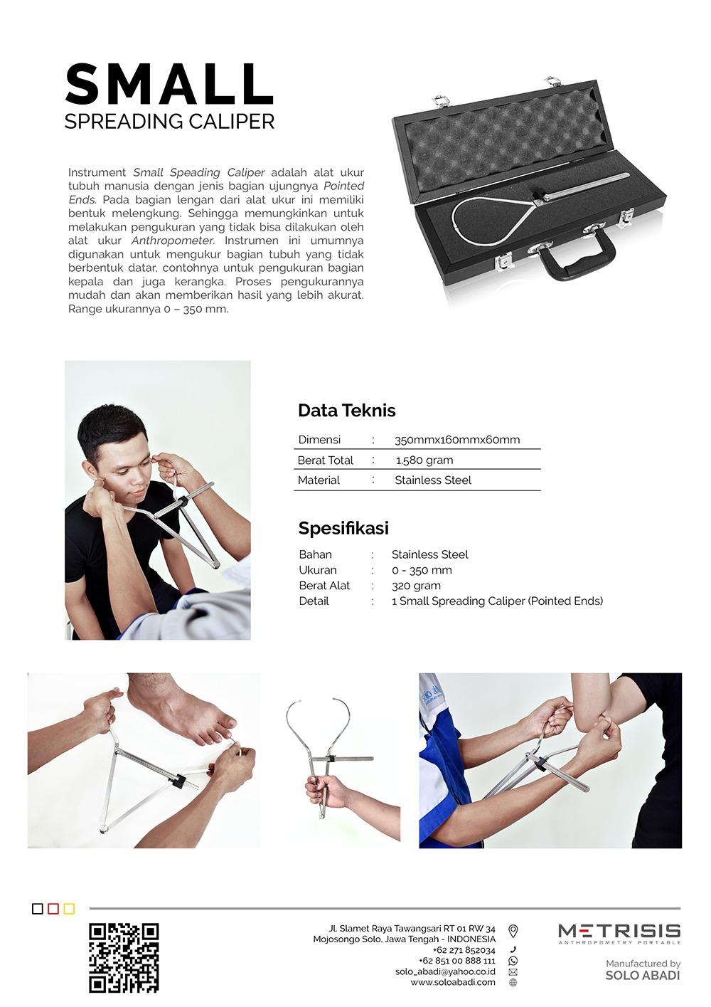 Brosur Portable Antropometri Small Spreading Caliper