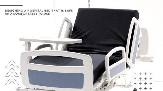 ergonomic hospital bed